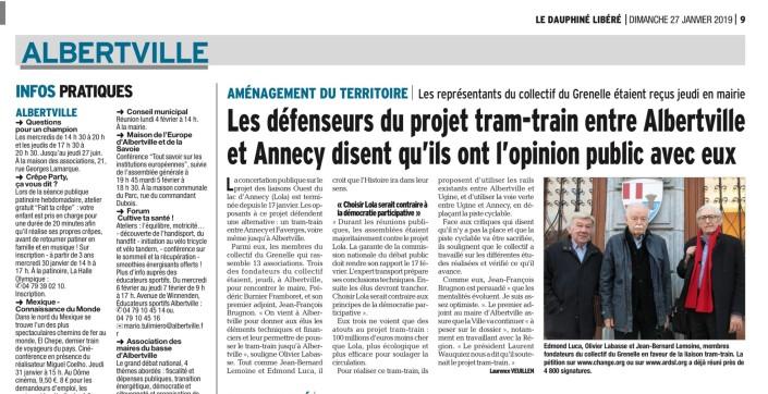 Tram Annecy-Faverges -Albertville -DL 29-1-2019